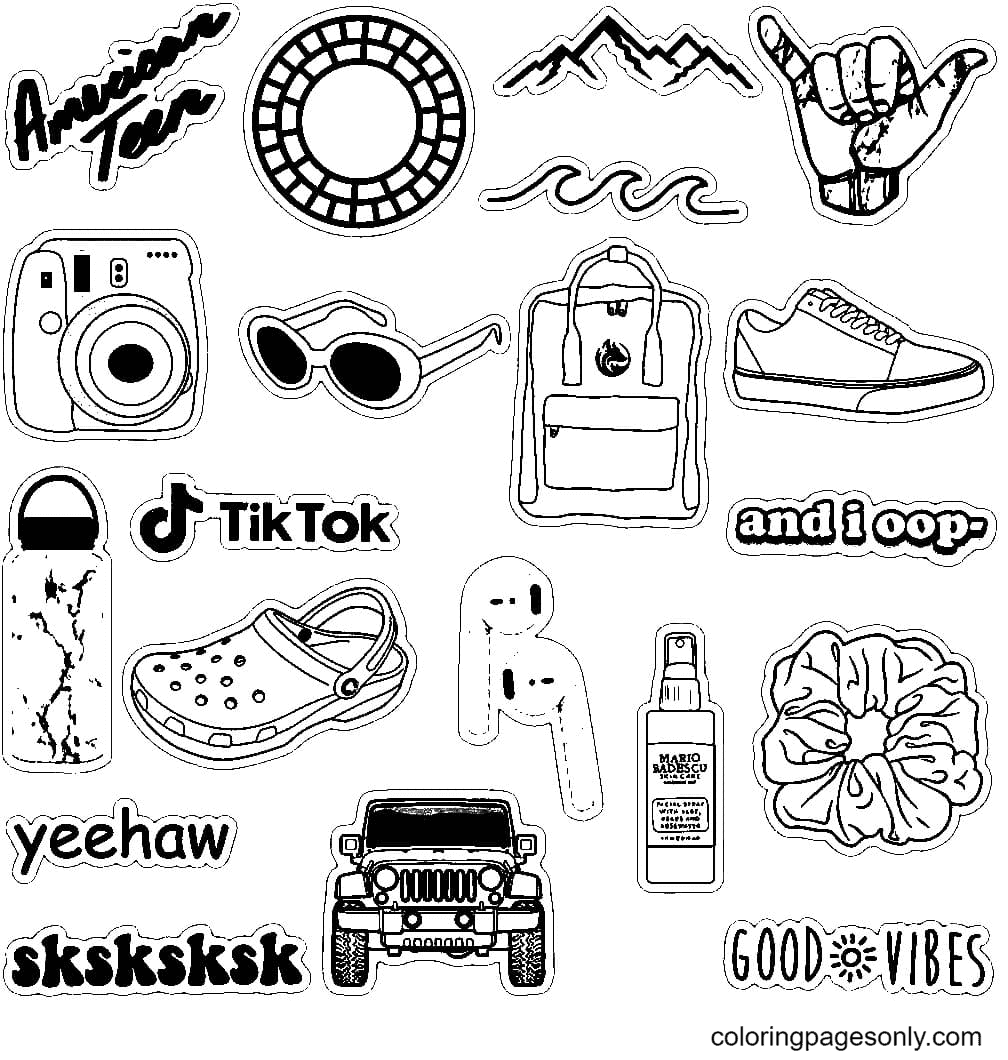 Aesthetics Style Coloring Page
