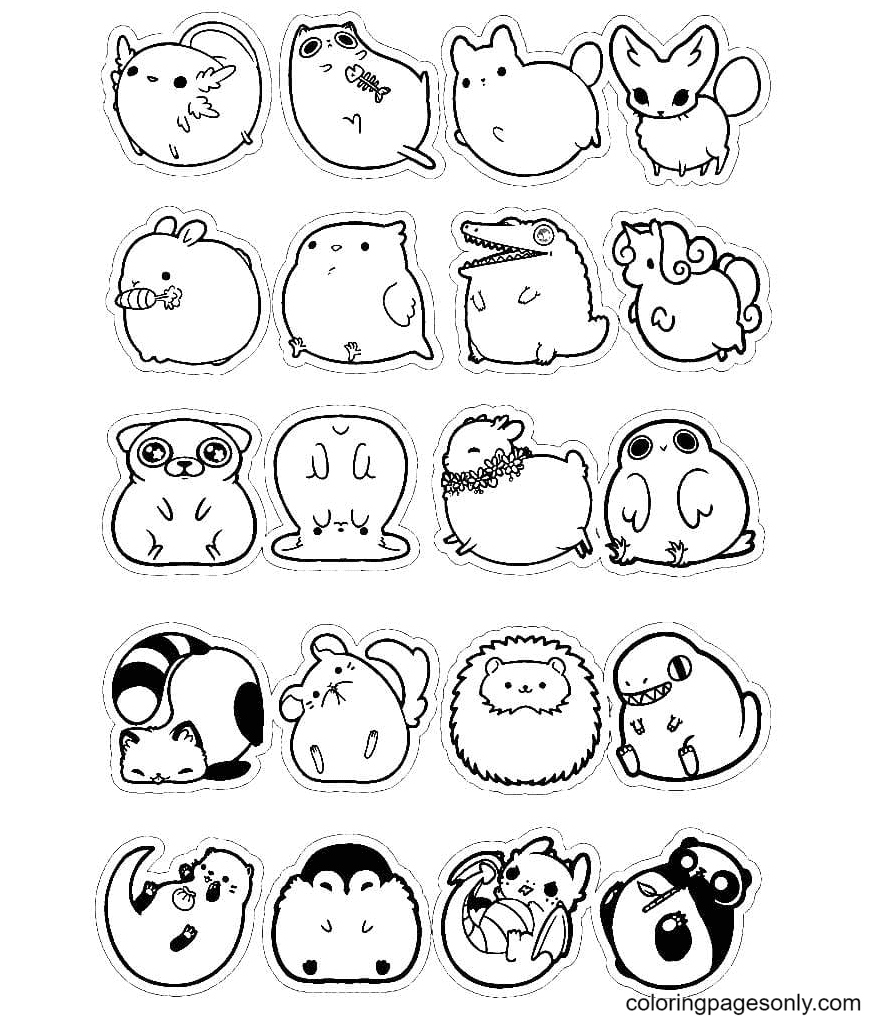 Aesthetics animals Coloring Page