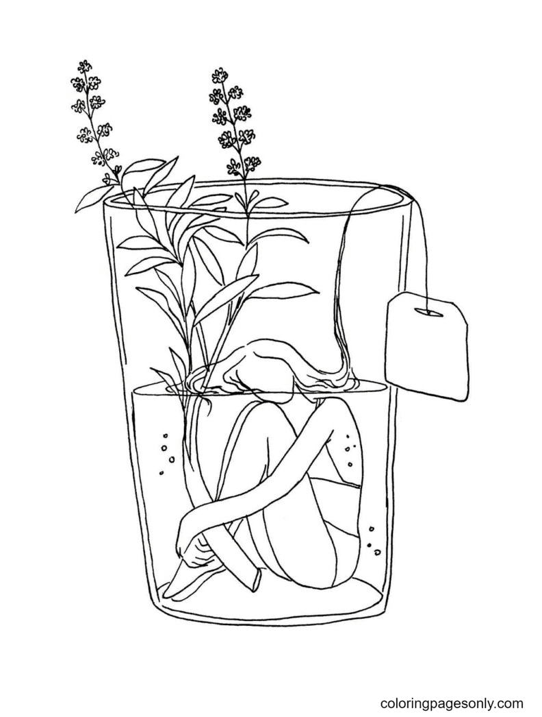 Aesthetics for Teens Coloring Page