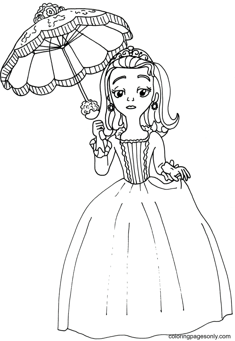 Amber from Sofia the First Coloring Page