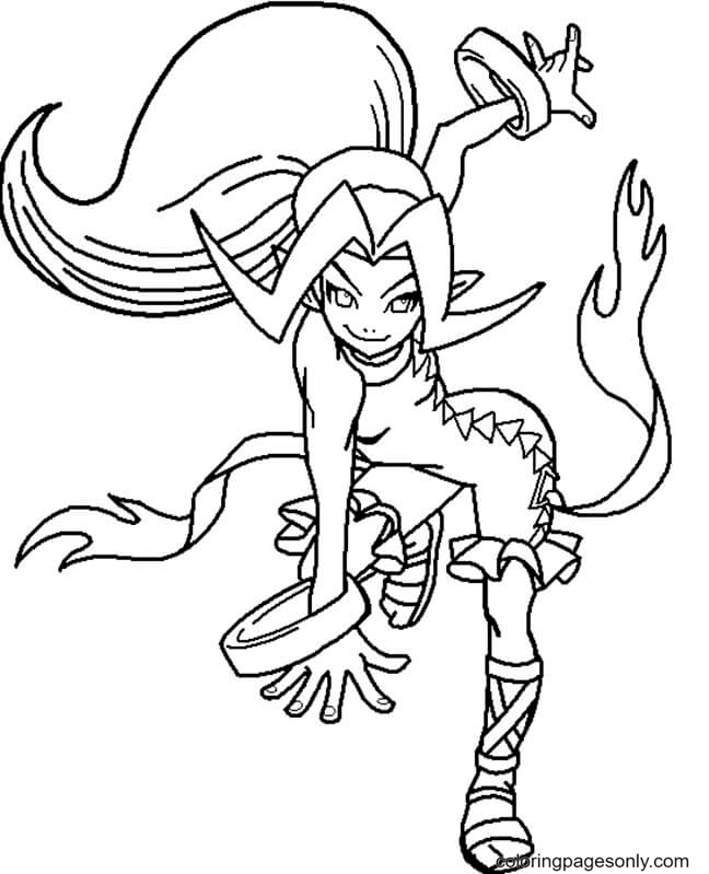 Anime Vampire Coloring Page