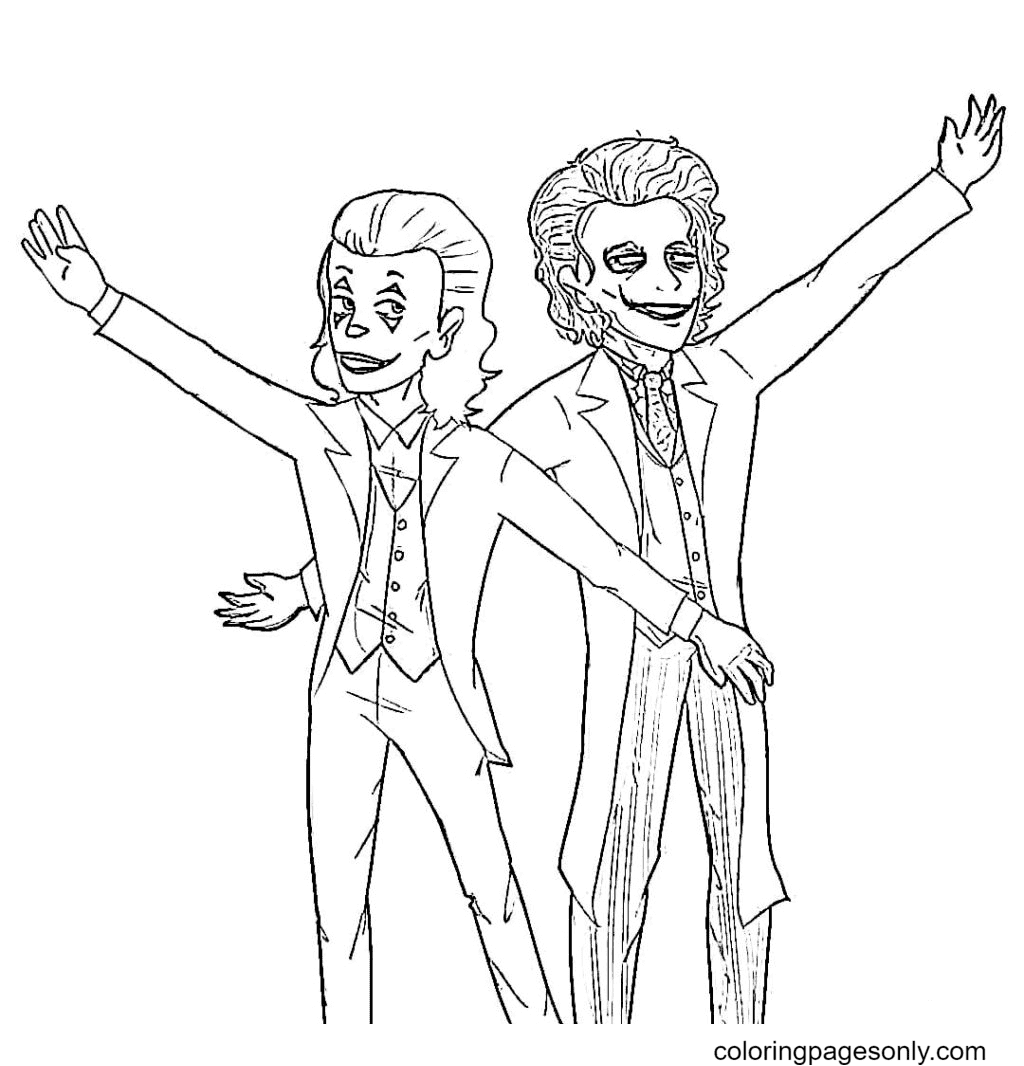 Arthur teaches the Joker dance moves Coloring Page
