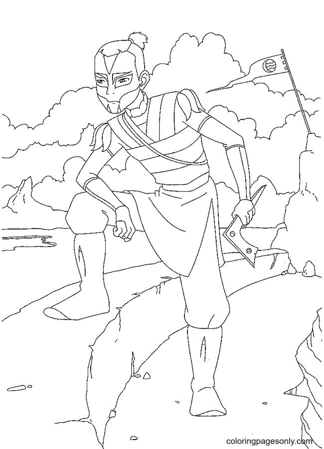 Avatar Sokka Coloring Page