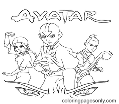 Avatar Coloring Page