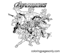 Avengers Coloring Page