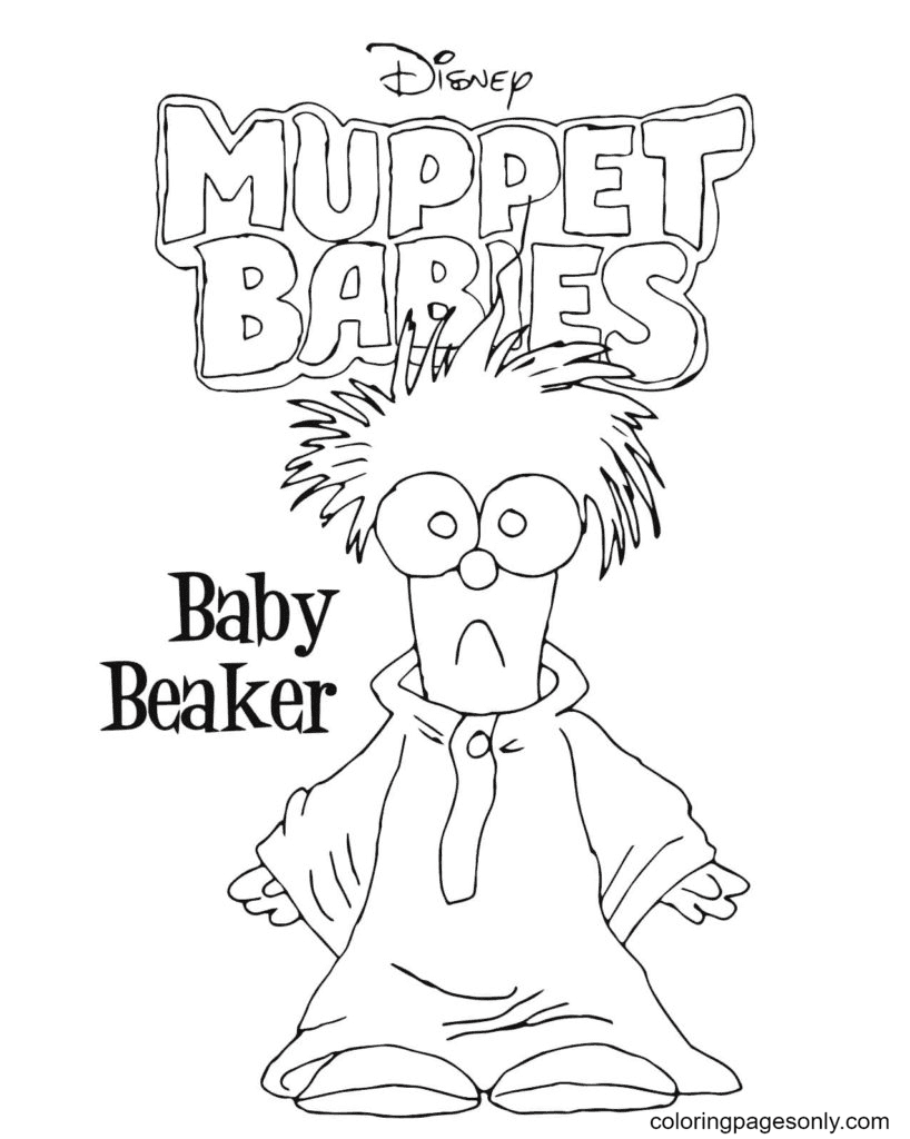 Baby Beaker Coloring Page