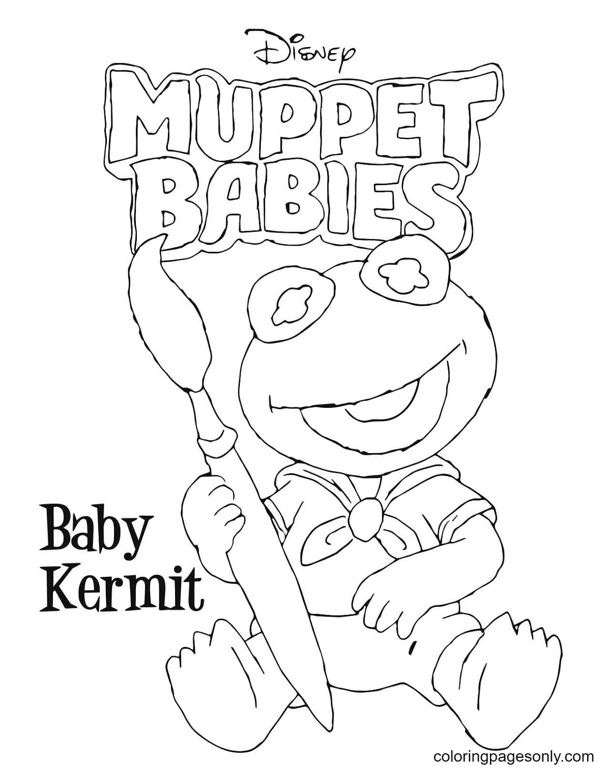 Baby Keramit Coloring Page