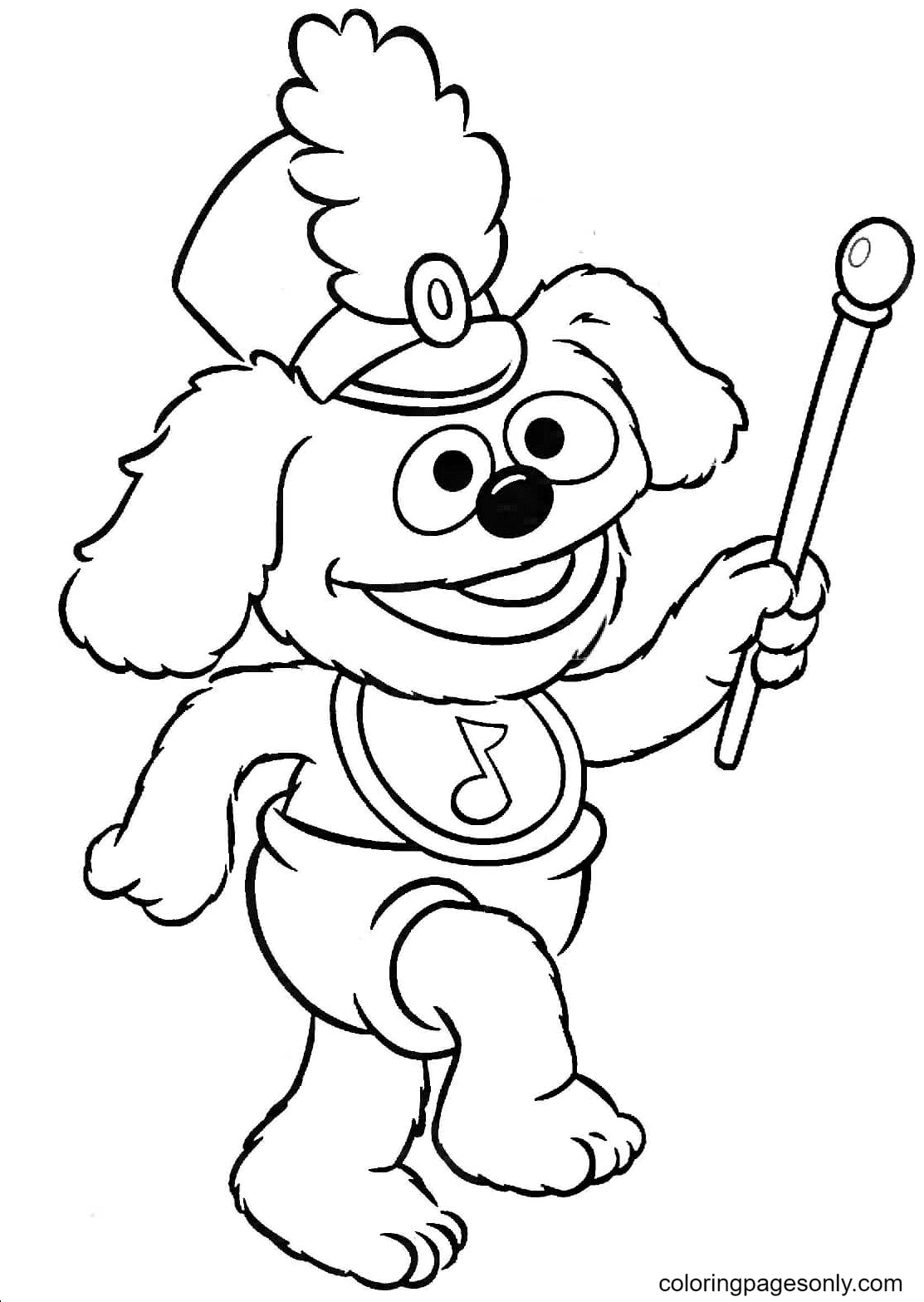 Baby Rowlf Coloring Page