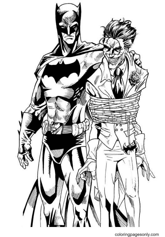 Bad Joker Coloring Page
