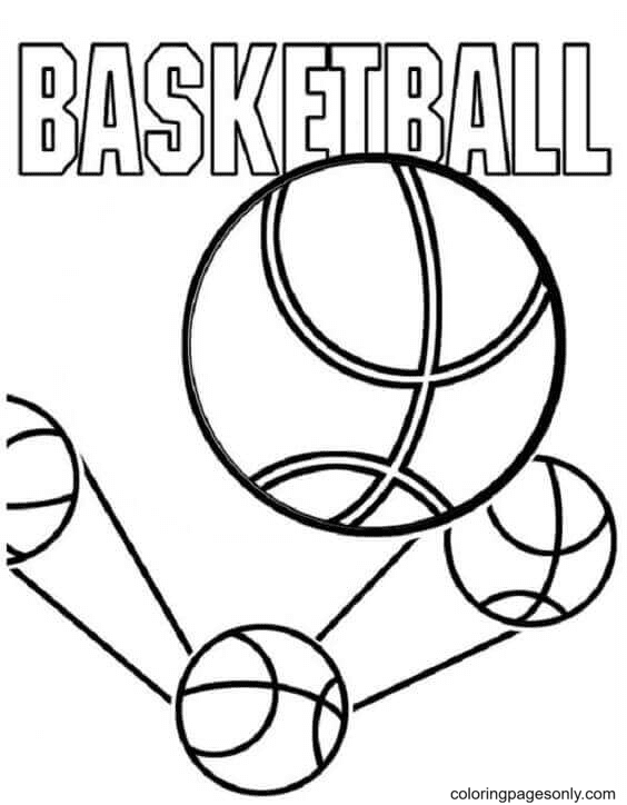 Ball Used in Basketball Match Coloring Page