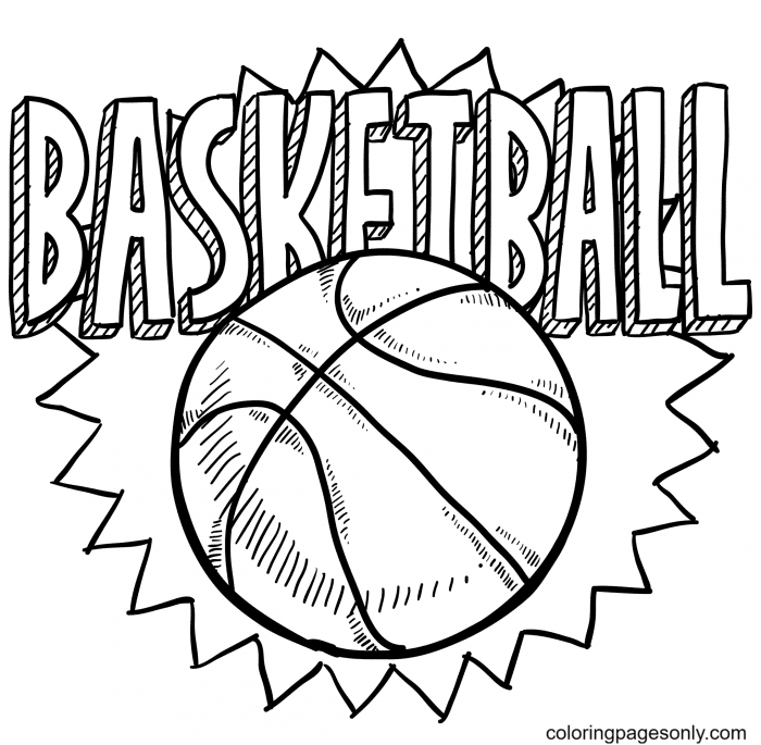 Basketball Printable Coloring Page