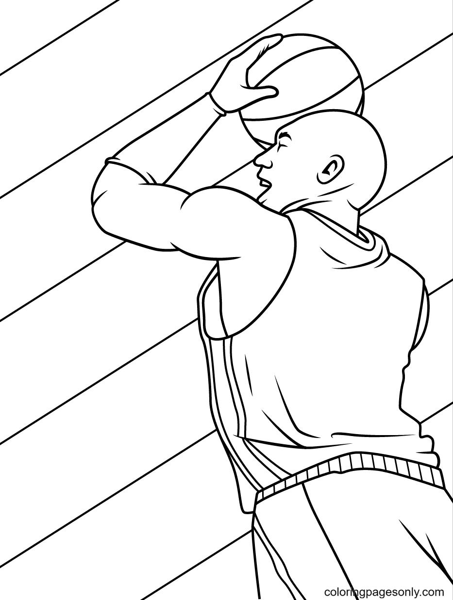 Basketball Throw Coloring Page