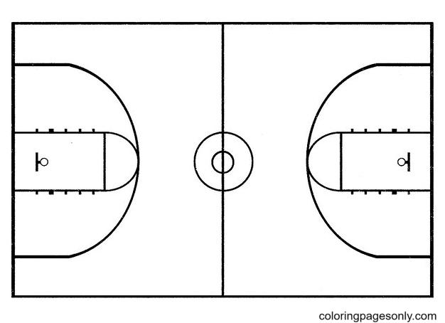 Basketball Yard Coloring Page