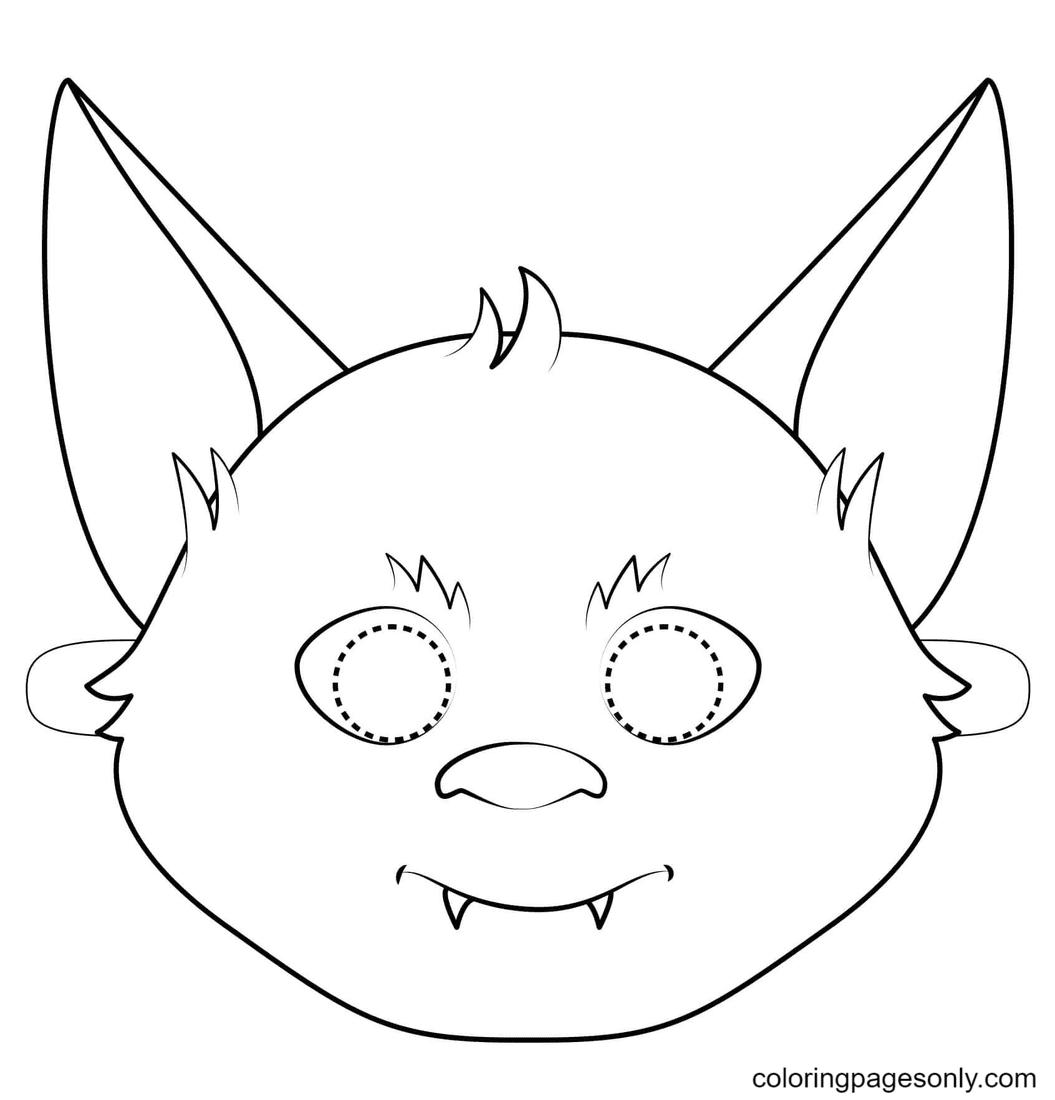 Bat Mask Coloring Page