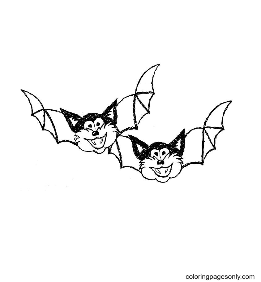 Bat cats Coloring Page