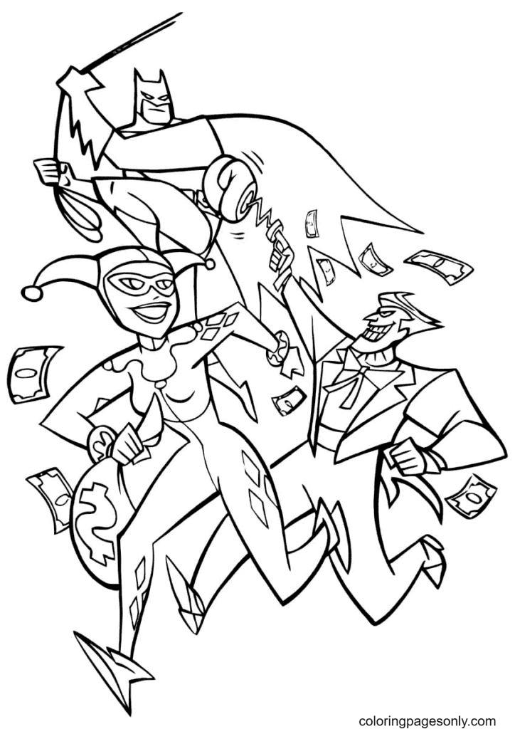 Batman Fighting Joker Coloring Page