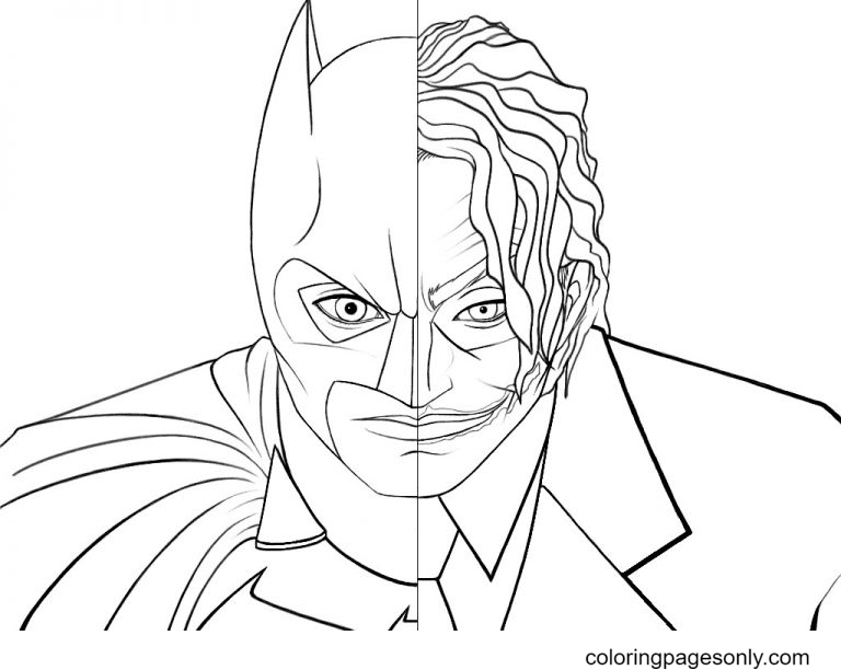 Batman Joker Coloring Page