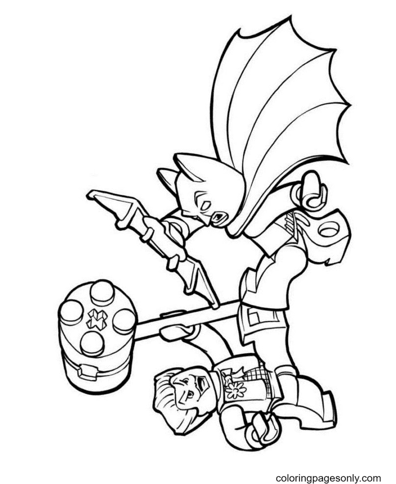 Batman and Joker Lego Coloring Page