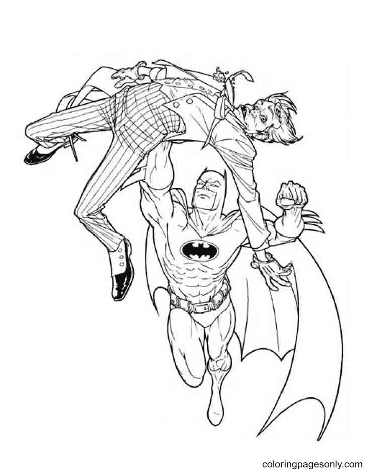 Batman and Joker Coloring Page