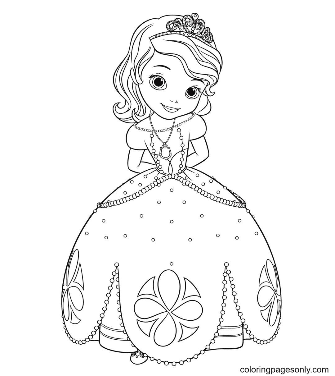 Beautiful Princess Sofia Coloring Page