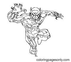 Black Panther from Avengers Coloring Page