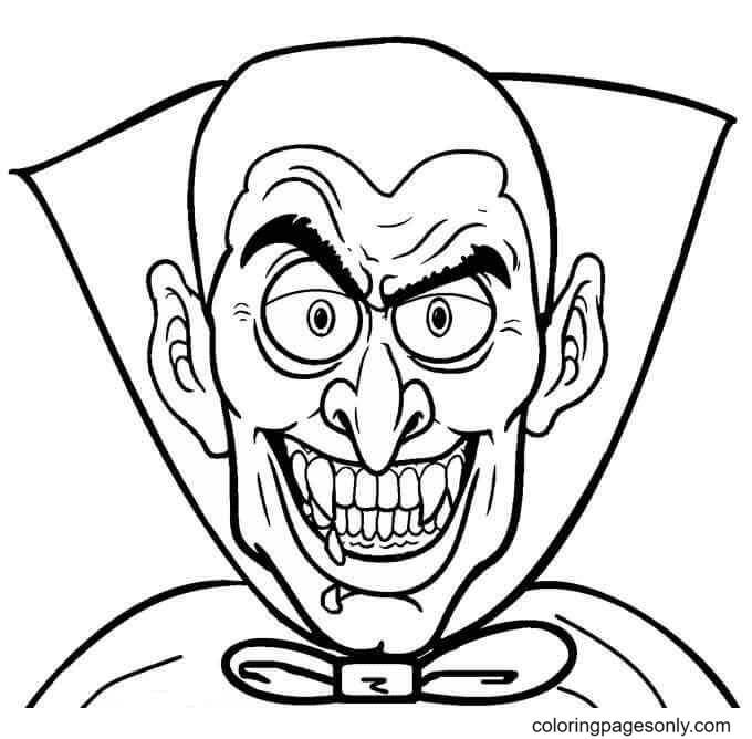 Bloodthirsty Vampire Coloring Page