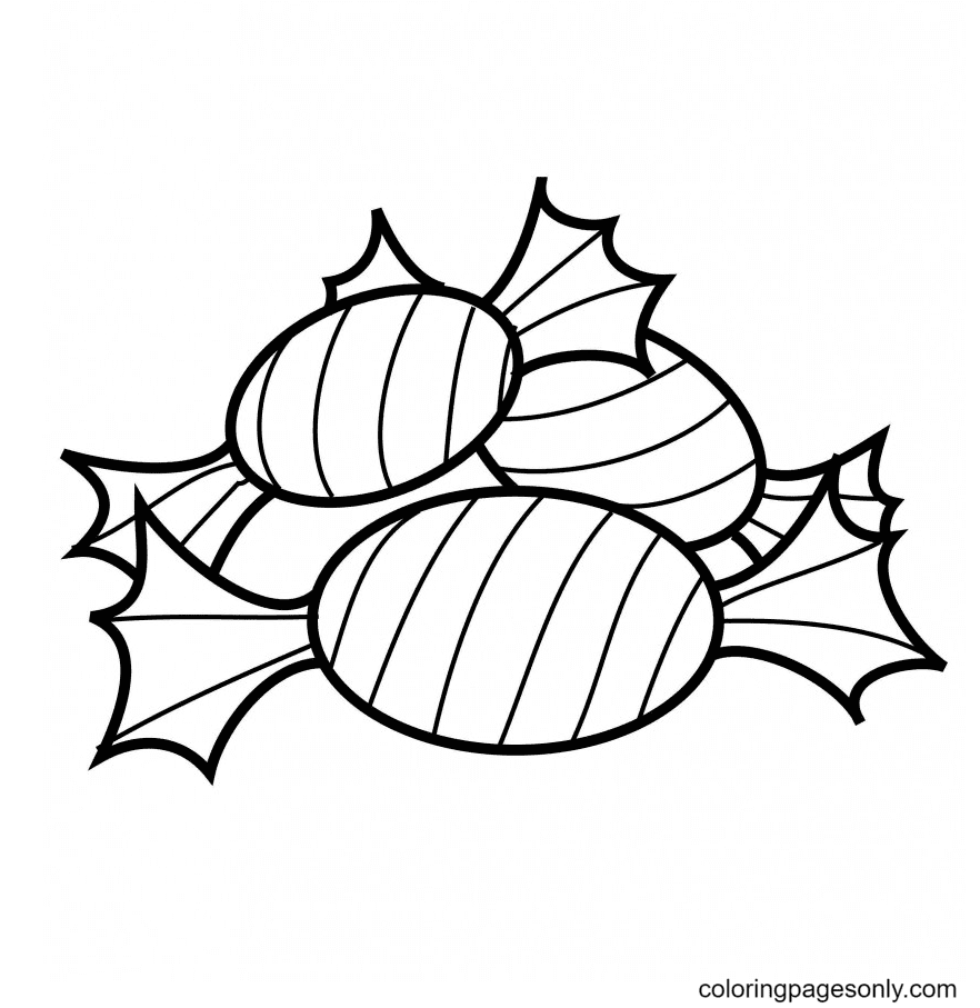 Candy Printable Coloring Page