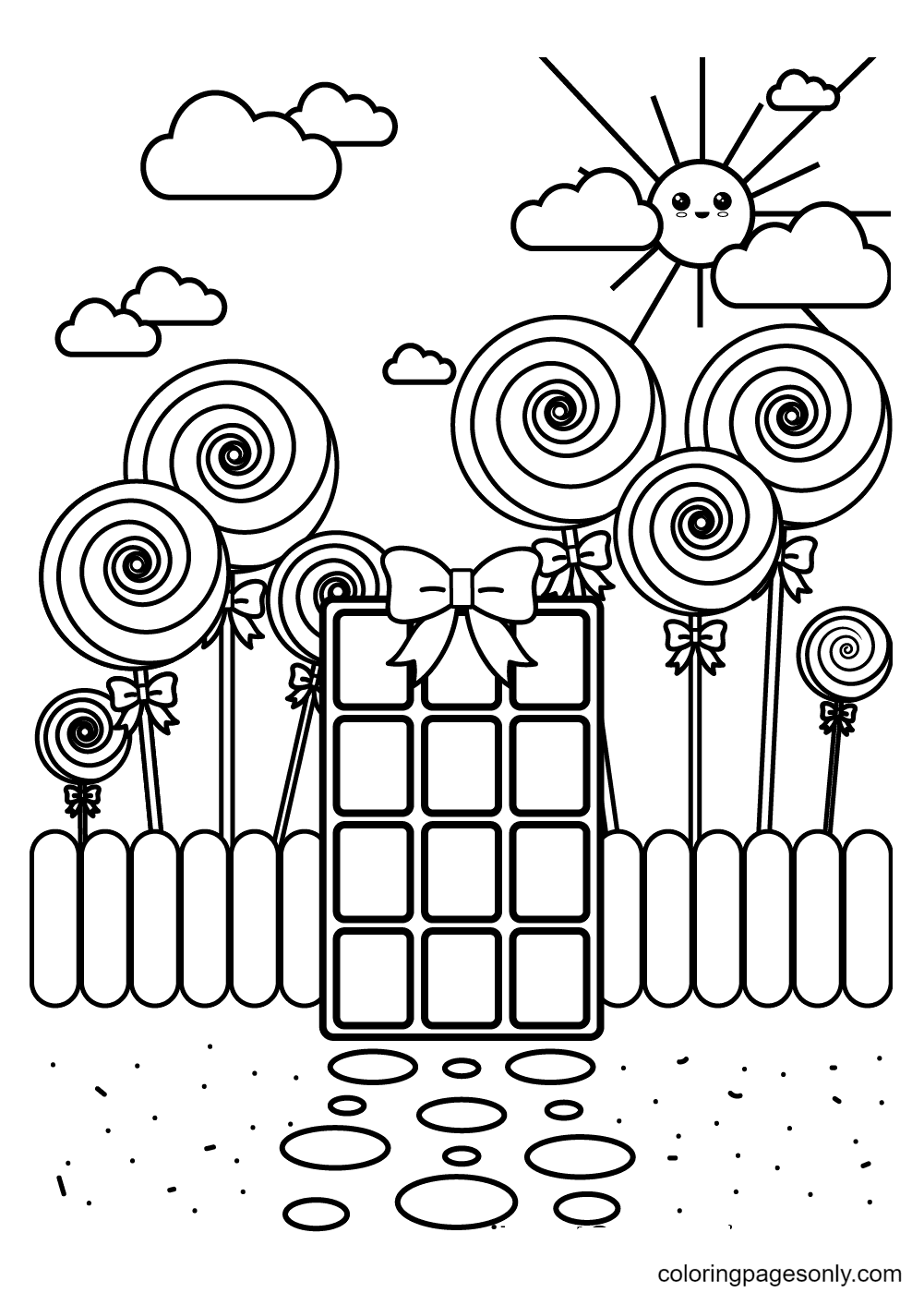 Candy Wonderland Coloring Page