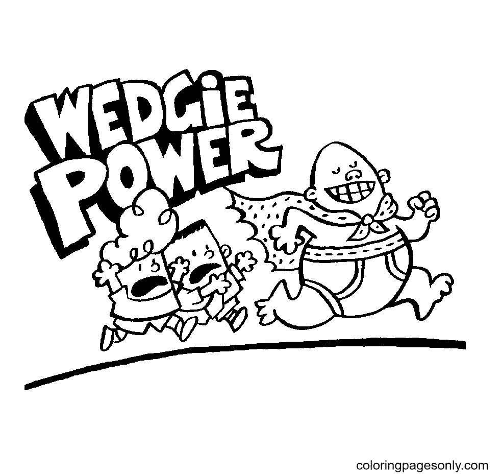 Captain Underpants Free Printable Coloring Page