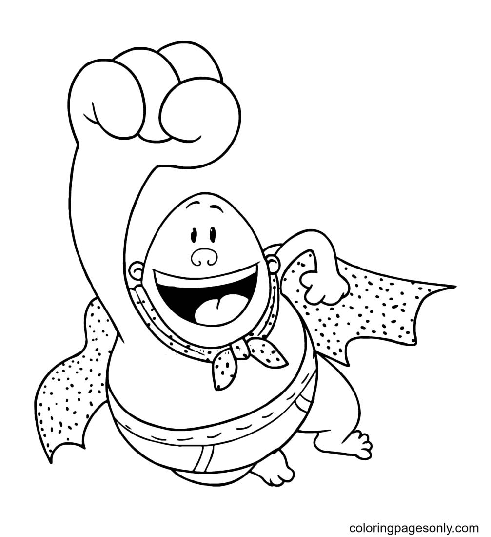 Captain Underpants Superhero Coloring Page