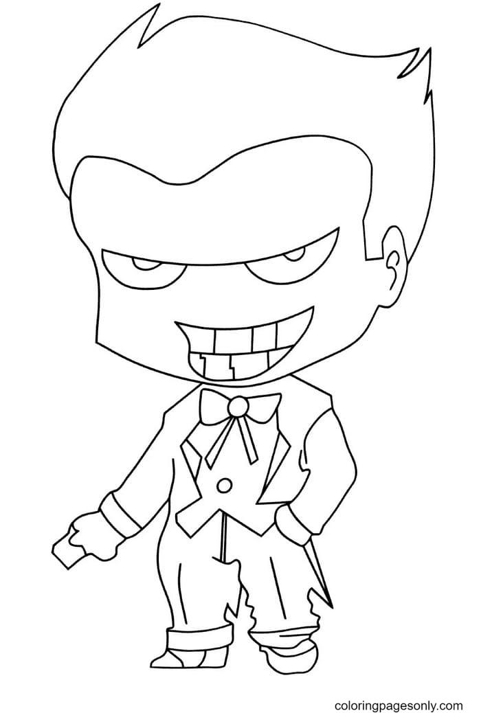 Cartoon Joker Coloring Page