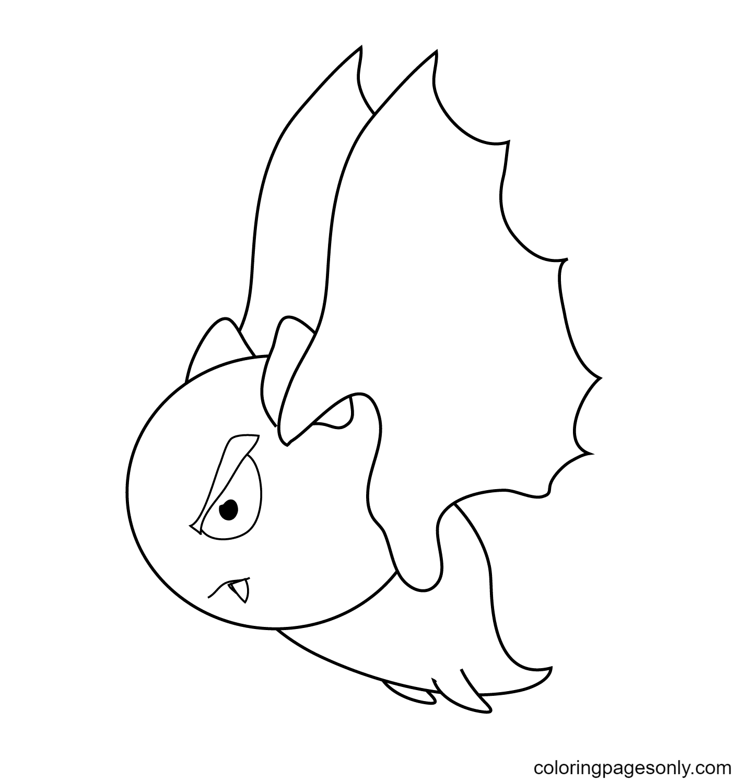 Cartoon Vampire Bat Coloring Page
