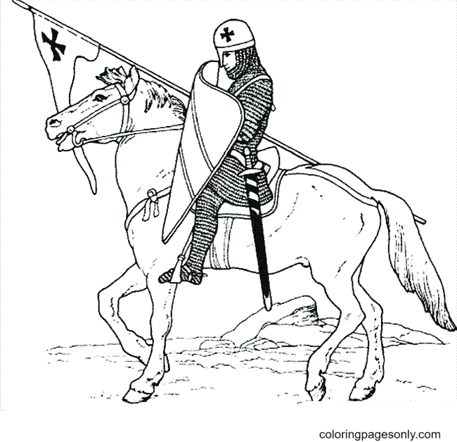 Castle Knight Coloring Page