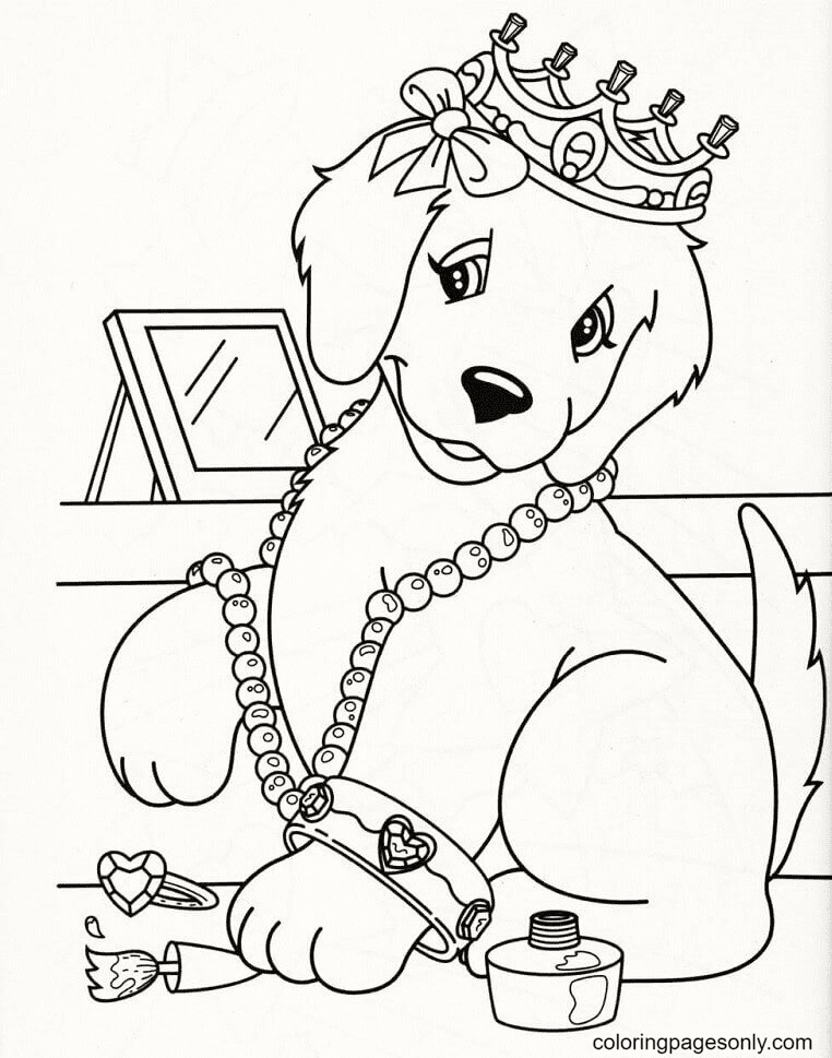 Caymus Loves Accessories Coloring Page