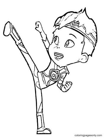 Character Kody Kapow Coloring Page