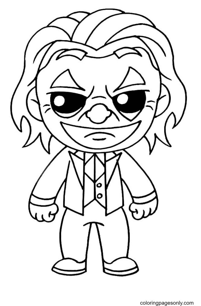 Chibi Joker Arthur Fleck Coloring Page