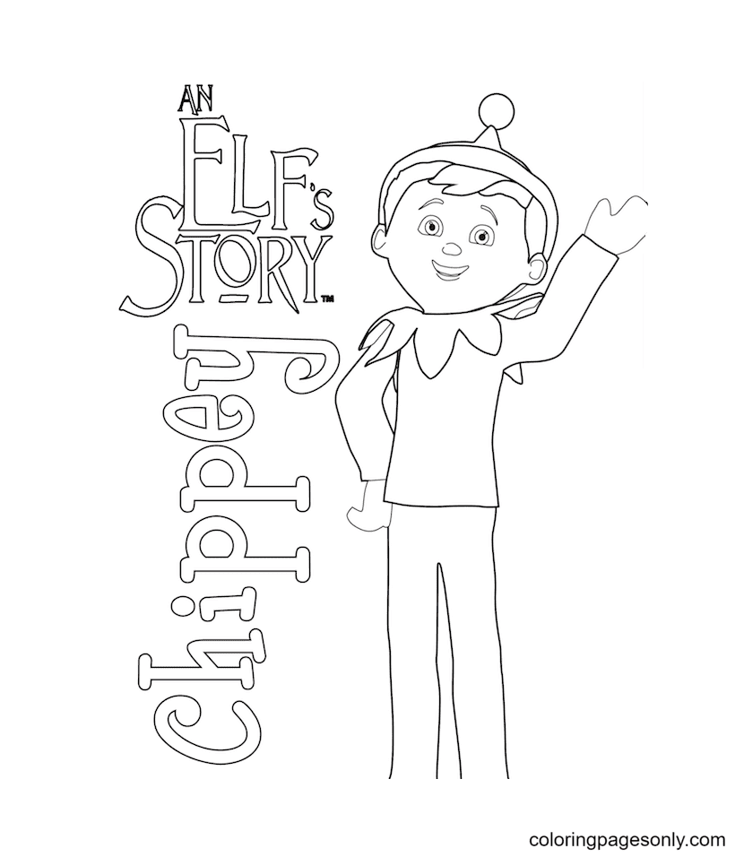 Chippey Coloring Page