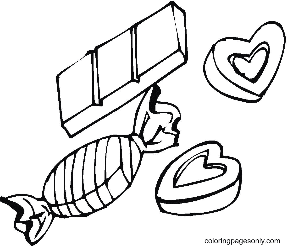 Chocolate Candy Coloring Page