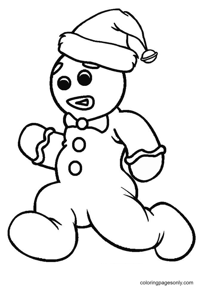 Christmas Gingerbread Man Coloring Page