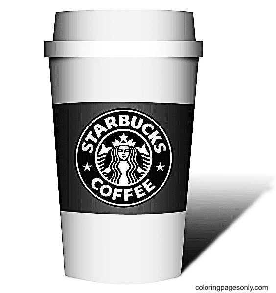 Coffe Starbucks Coloring Page