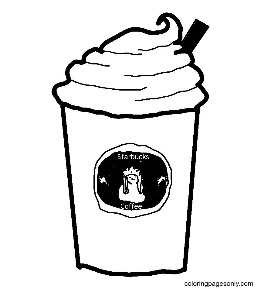 Coffee Starbucks Coloring Page