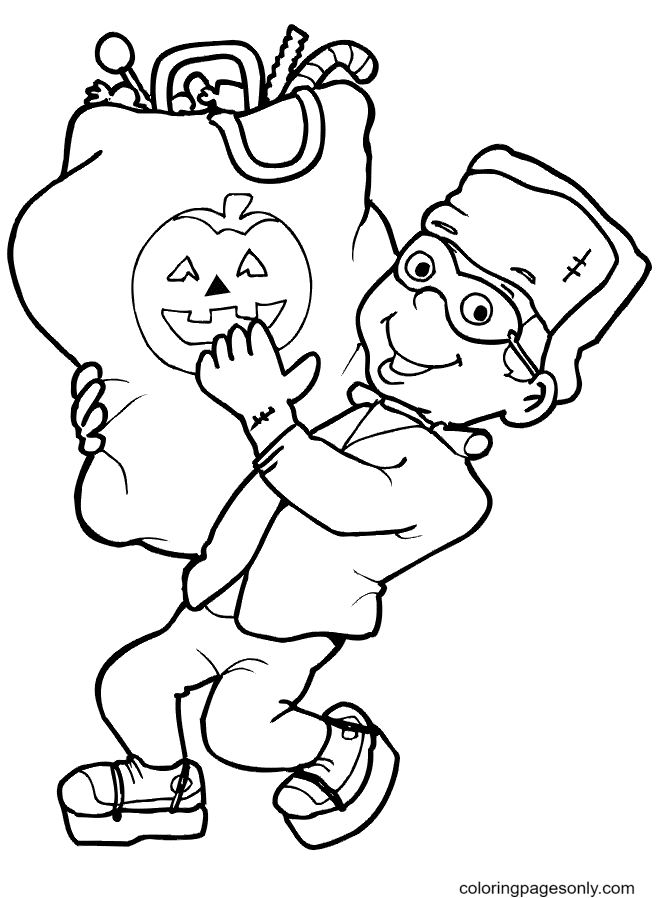 Costume October Coloring Page