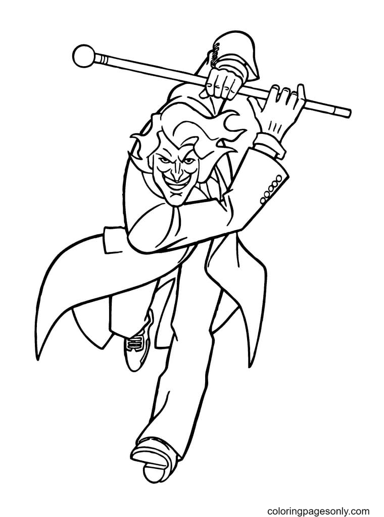Crazy Joker Coloring Page