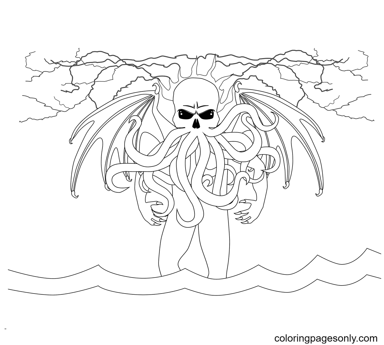 Cthulhu Coloring Page