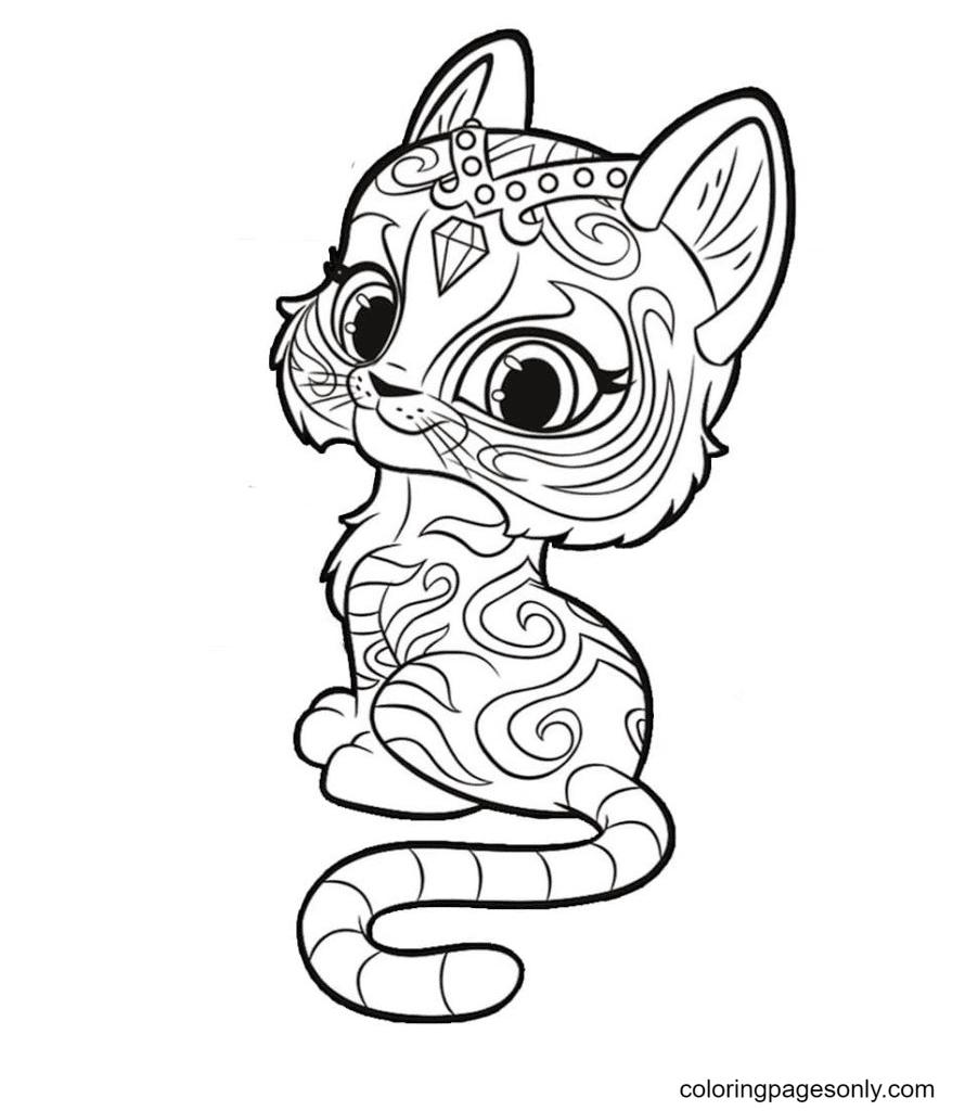 Cute Nahal Tiger Coloring Page