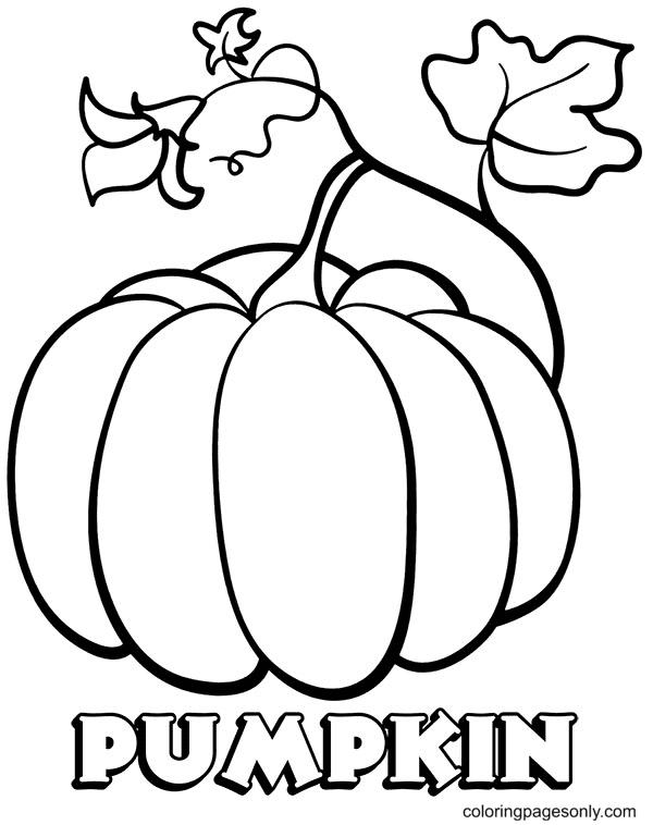 Cute Pumpkin Printable Coloring Page