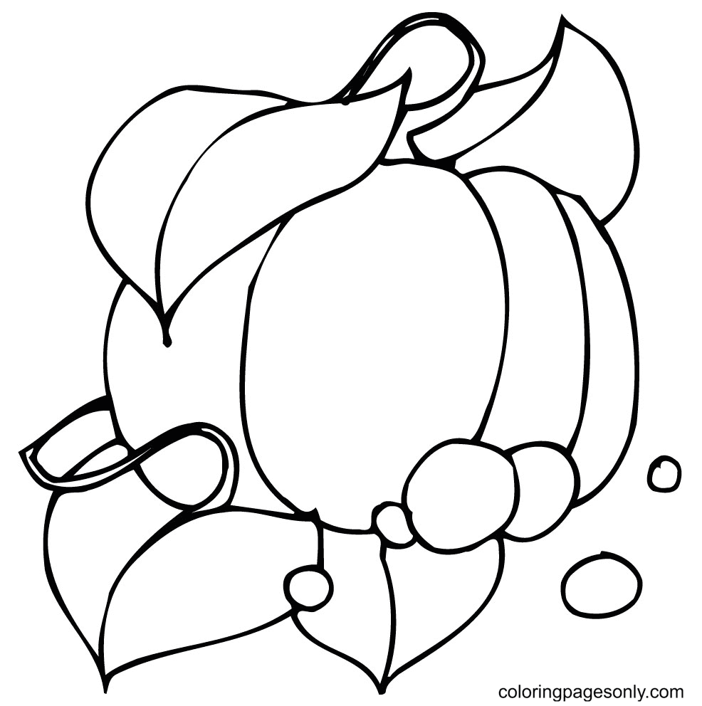 Cute Pumpkin Coloring Page