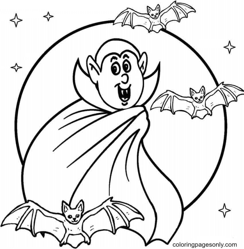 Cute Vampire Coloring Page