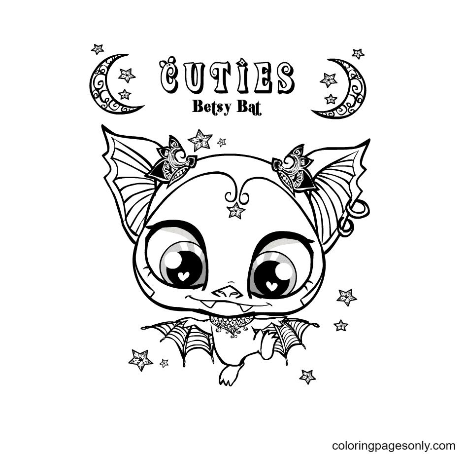 Cuties Betsy Bat Coloring Page