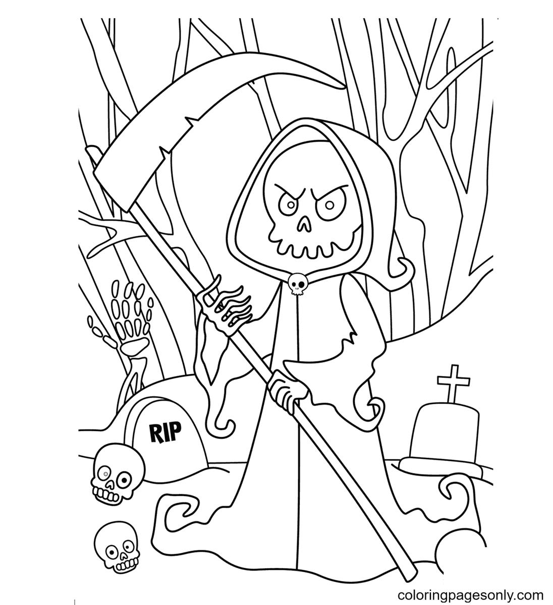 Death Printable Coloring Page